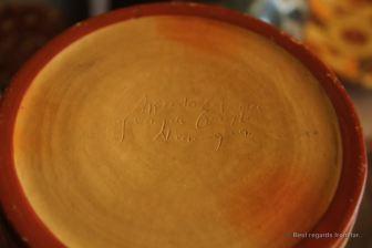 Hand signed ceramics by Don Espinoza, San Juan de Oriente, Nicaragua