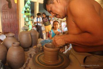 Don Espinoza at work, San Juan de Oriente, Nicaragua
