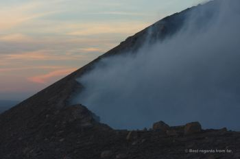 The active Telica volcano, Nicaragua spitting out gases