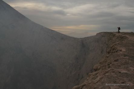 The massive crater of the Telica volcano, Nicaragua