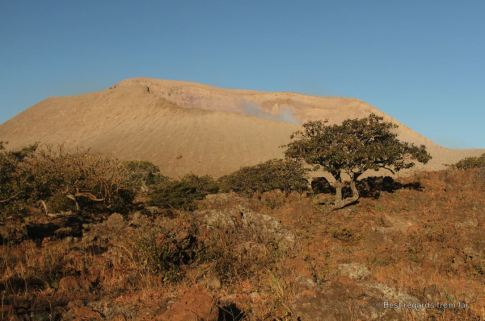 Sunrise on the crater of the Telica volcano, Nicaragua