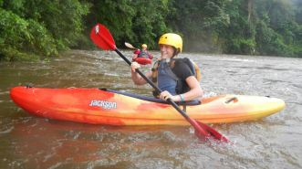 Kayaking the Sarapiqui river
