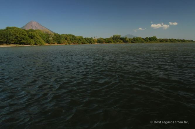The Concepcion and the Maderas volcanoes from Punta Jesus Maria beach, Ometepe island, Nicaragua