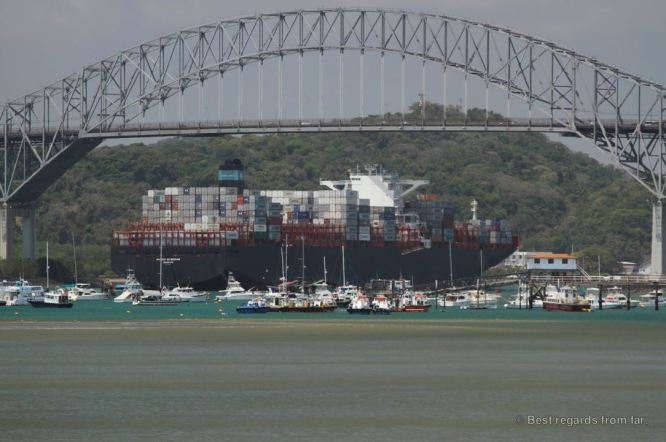 The bridge of Americas, the Pacifici entrance of the Panama Canal