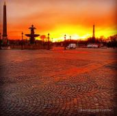 Place de la Concorde by sunset