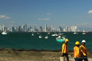 Skyline of Panama City, still under construction