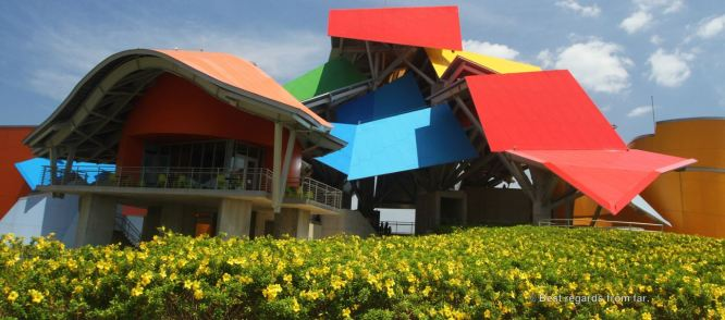 The extravagant Biomuseo by Frank Gehry, Panama City