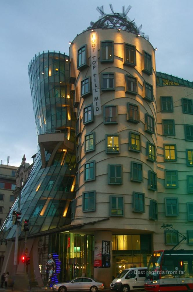 The dancing house by Frank Gehry, Prague