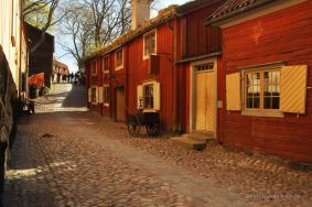 Typical street, Skansen, Stockholm