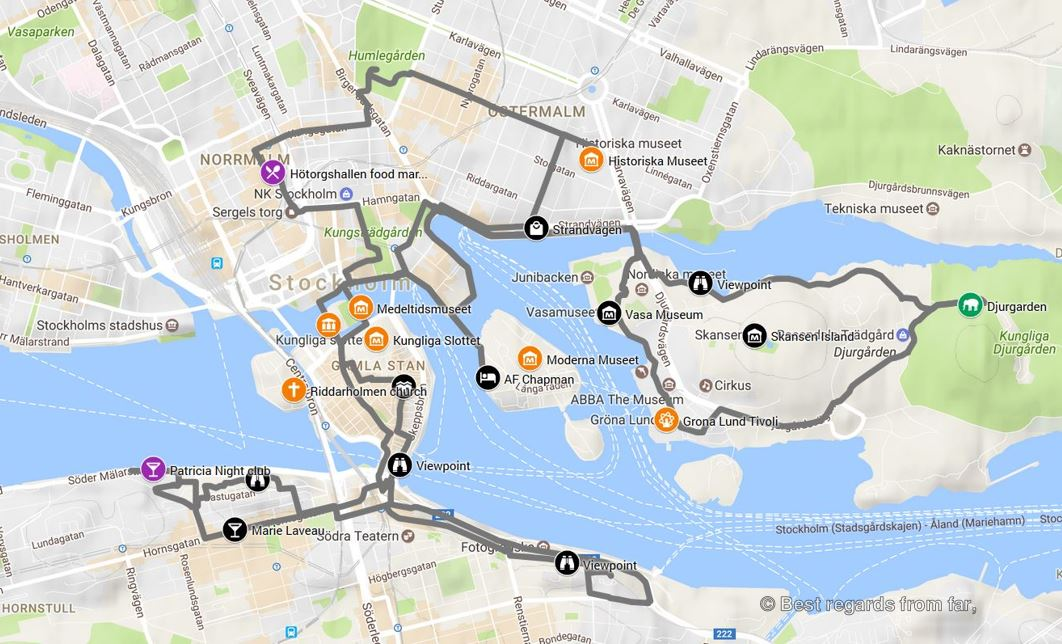 Interactive map – Stockholm | Best regards from far, on