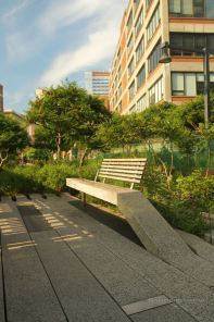 One of the many benches along the High Line, New York City