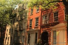 The caracteristic facades of Greenwich Village, New York City