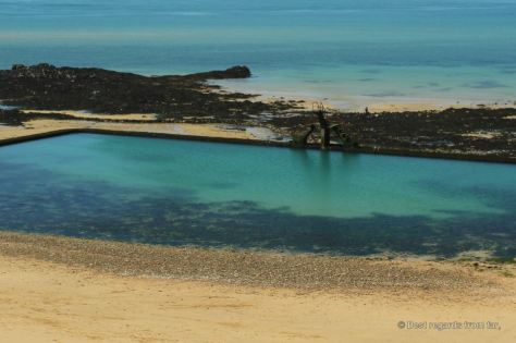The tidal pool of Saint Malo, France