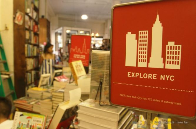 The explore NYC-section of Strand Books, New York City
