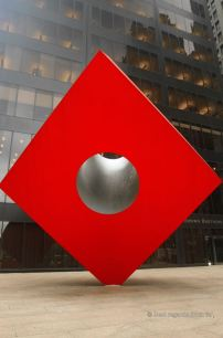Isamu Noguchi's Red Cube in Lower Manhattan