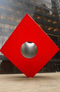 Isamu Noguchi's Red Cube in Lower Manhattan