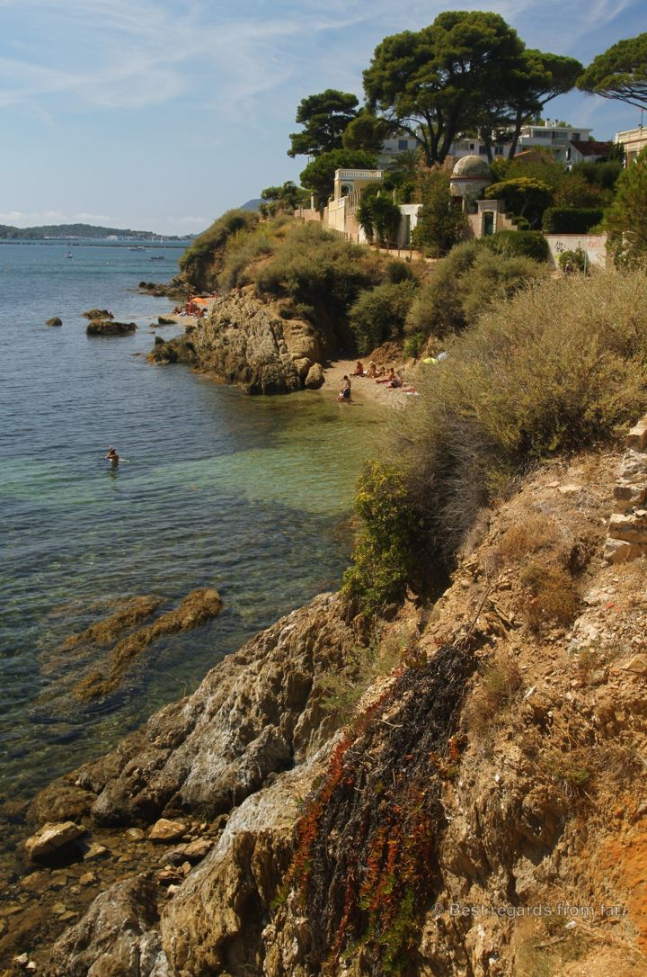 A lovely beach in the heart of Toulon, French Riviera.