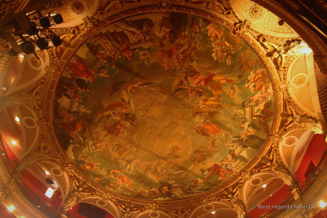 The ceiling of the opera house, Toulon.