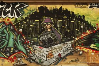 Graffiti wall in Brooklyn, NYC