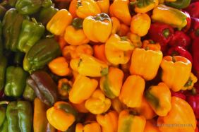 Locally grown peppers from the market, Toulon