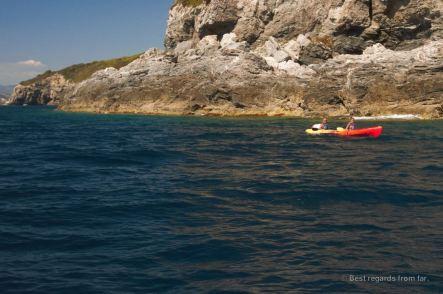 Kayaking the Giens peninsula, French Riviera