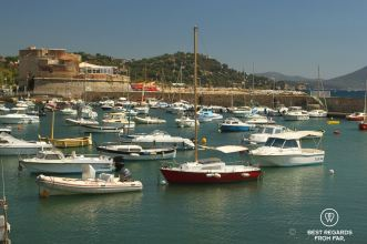 The forts of Vauban are now recreational areas with boats, Toulon, France.