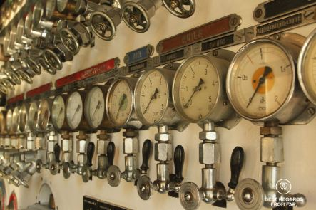 Pressure gages for submarines at the Naval Museum of Toulon, France.