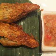 Chicken stuffed lemongrass, a taste of Laos