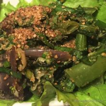 Soop pat green veggies, a taste of Laos