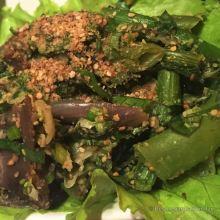Soop pat green veggies, a taste of Laos