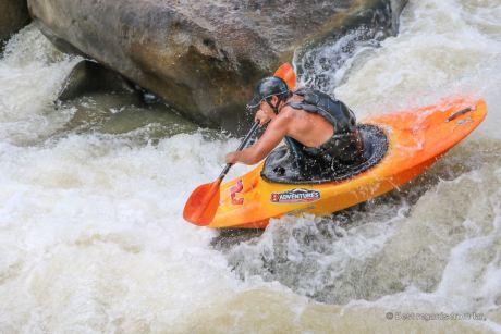 White water fun on the Mae River, Chiang Mai, Thailand