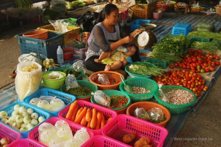Local market near Chiang Mai, Thailand