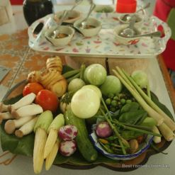 Ready for the Thai cooking class, Thai cooking class