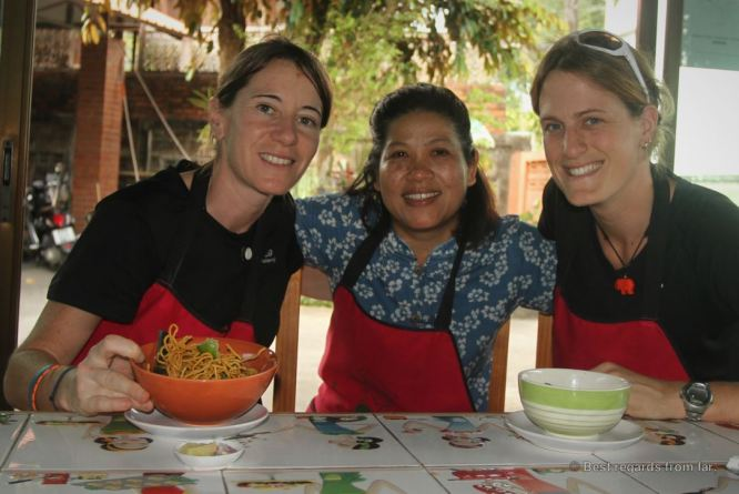 Oay, our fantastic teacher for our Thai cooking class in Chiang Mai, Thailand