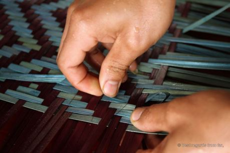 Bamboo weaving requires accuracy