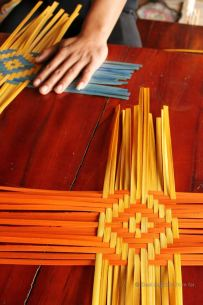Bamboo weaving a placemat