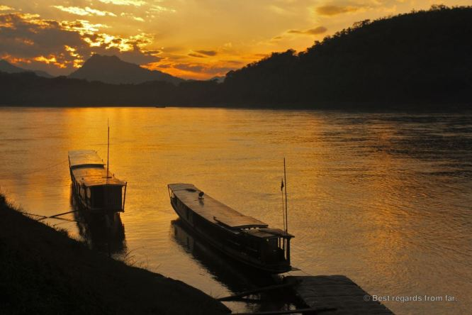 Mekong sunset in Luang Prabang, Laos