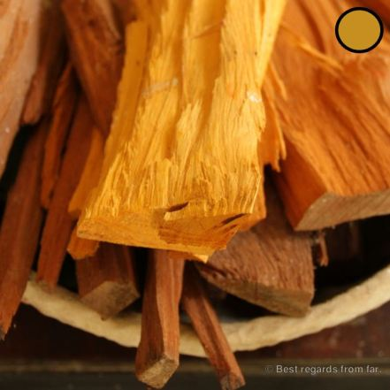 Natural dyeing: boil the wood of the jackfruit tree to get the colour