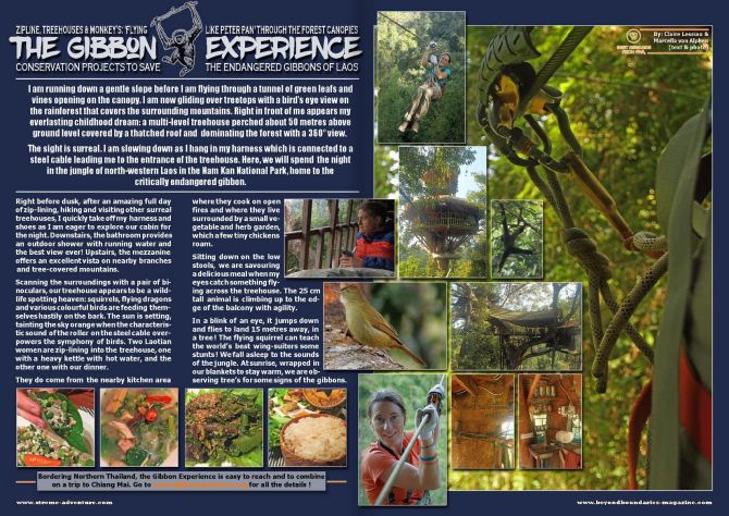 The Gibbon Experience - Beyond Boundaries magazine