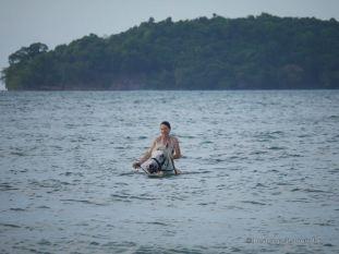 Horseback swimming Otres Beach, Cambodia