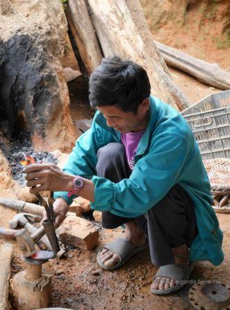The village black smith of Ban Chalern_Akha , Akha village trek, Laos