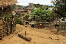 The traditional Akha village, Ban Peryenxangmai, Laos