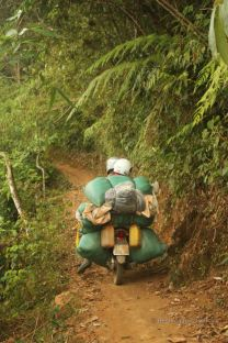 Local transport, Akha village trekking, Laos
