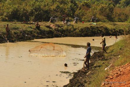 Traditional fishing, Cambodia
