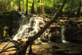 The Manora waterfall in Phang Nga, Thailand