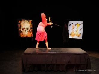 Sokha freeing herself from her past, Phare the Cambodian Circus, Siem Reap, Cambodia