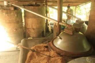 Rice wine making in Battambang, Cambodia
