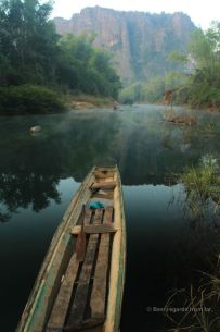 Early morning on the river, the loop, Laos
