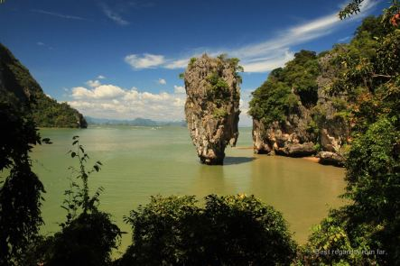 The James Bond island, Phang Nga bay, Thailand