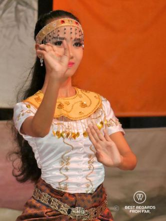 Traditional Cambodian dance at the Phare Ponleu Selpak circus in Battambang, Cambodia